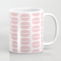 macaroon Mugs featuring Pink Macaroon Pattern - Bakery Art - French Macaron by French Macaron Art Print and Decor Store