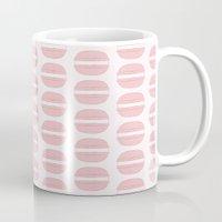 macaroon Mugs featuring Pink Macaroon Pattern - Bakery Art - French Macaron by French Macaron Art Print and Decor Store
