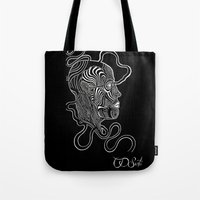 anatomy Tote Bags featuring Anatomy  by Martha Calderon