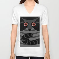 racoon V-neck T-shirts featuring racoon - raccoon  by ArigigiPixel