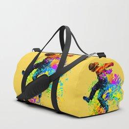 Hip hop dancer, teenager jumping, dancing Duffle Bag