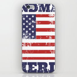 Handmade in America Rubber Stamp iPhone Skin