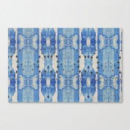 Blue Blotted Stars Canvas Print