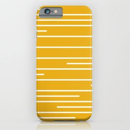 Minimal, Geometric, Line Art Stripes, Mustard Yellow iPhone Case