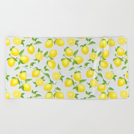 You're the Zest - Lemons on White Beach Towel