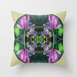 Spring Mandala Throw Pillow