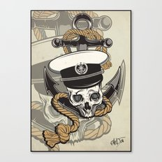 Skull with anchor Canvas Print