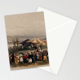 Vintage Print - The Holy Land, Vol 2 (1843) - Tent of Achmet Aga, the governer of Jerusalem Stationery Cards