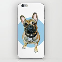 French Bulldog blue spot. iPhone Skin