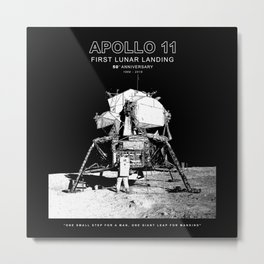 Apollo 11-50th Anniversary-Space, Astronomy Metal Print