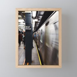 Wallstreet Subway Framed Mini Art Print