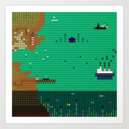 A Coded Message #3 Art Print