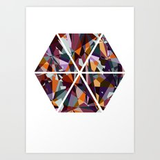 GeoHex Art Print