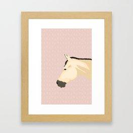 Little Buckskin Lilly. Framed Art Print