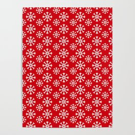 Winter Wonderland Snowflake Christmas Pattern Poster