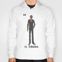 "obama Hoodies featuring EL OBAMA by ""dfrnt"""