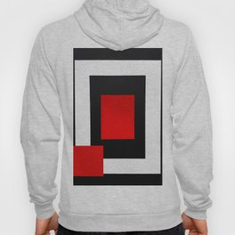 Geometric Abstraction - Red Hoody