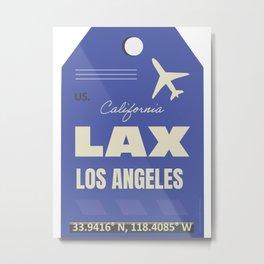 Airport code sticker LAX Metal Print