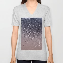 Cali Summer Vibes Lady Glitter #12 #shiny #decor #art #society6 Unisex V-Neck