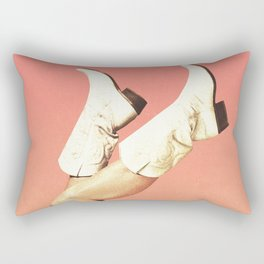 These Boots - Living Coral Rectangular Pillow