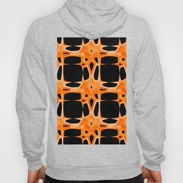 Mid Century Modern Retro Stars Orange Black Hoody