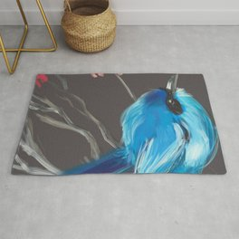 Little Blue Fairy Bird Rug