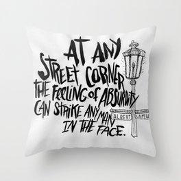 ALBERT CAMUS ROCKJAM Throw Pillow