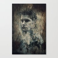 winchester Canvas Prints featuring Dean Winchester by Sirenphotos