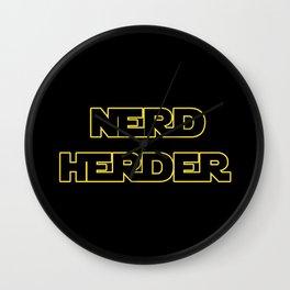 Nerd Herder Wall Clock