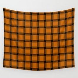 Dark Orange Weave Wall Tapestry