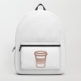 Sparkling rose gold coffee cup Backpack
