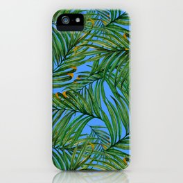 Palm leaves against the sky iPhone Case
