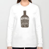 whiskey Long Sleeve T-shirts featuring Whiskey by irosebot