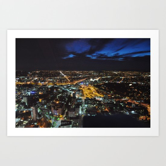 Auckland at Night Art Print