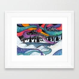 Dancing Night Framed Art Print