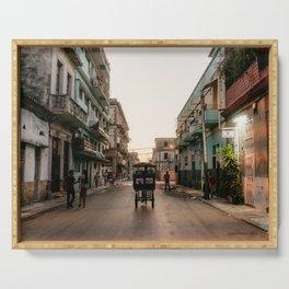 Havana city tuk tuk, Cuba  Serving Tray