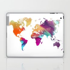 World map colored Laptop & iPad Skin
