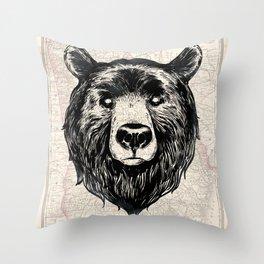 GA bear Throw Pillow