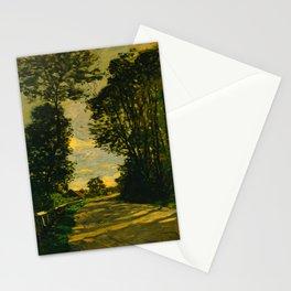 Claude Monet Impressionist Landscape Oil Painting Walk (Road of the Farm Saint-Siméon) 1864 Stationery Cards