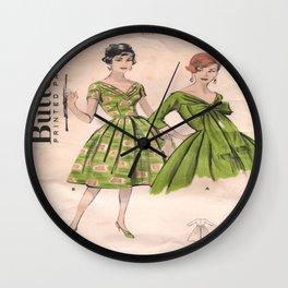 Retro Fashion Green Wall Clock