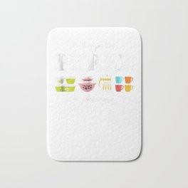 Either You Like Pyrex or You're Wrong - Vintage Kitchenware Bath Mat