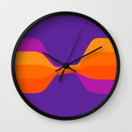 Purple Twist Wall Clock