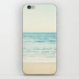 Ocean Landscape Art, Sea Photography, Aqua Seascape, Calming Ocean Horizon Photo iPhone Skin