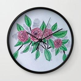 Roses VI Wall Clock