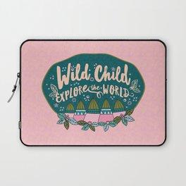 Wild Child Explore the World Mountains Laptop Sleeve