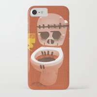 toilet iPhone & iPod Cases featuring Toilet Bowl by YONIL