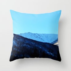 White Peaks Throw Pillow