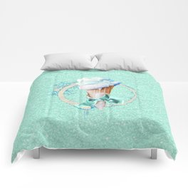 Blue Sugar Icecream Cone Comforters