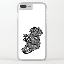 Typographic Ireland Clear iPhone Case