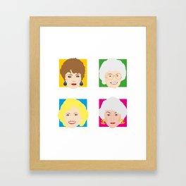 The Golden Girls, Betty White, Bea Arthur, Rue McClanahan, Estelle Getty Framed Art Print
